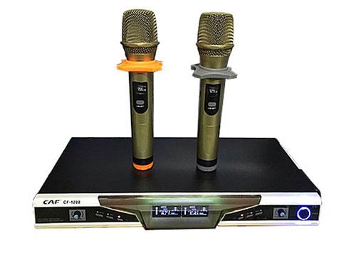 Bộ micro CAF CF-1200, mic karaoke UHF không dây, max 200m
