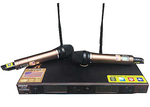 Bộ microphone không dây Shure UR-9S, âm thanh chuyên nghiệp