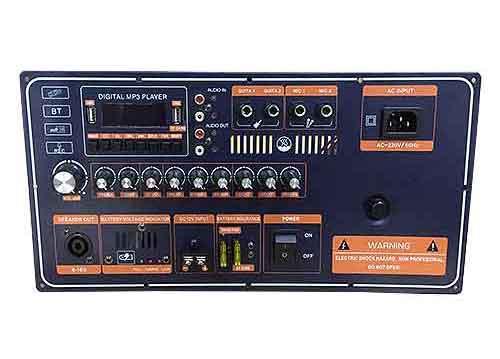 Board công suất loa kéo 400W, tích hợp chức năng karaoke