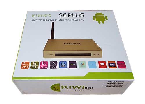 Kiwibox S6 Plus Thiết Bị Biến Tivi Thường Thánh Smart Tivi