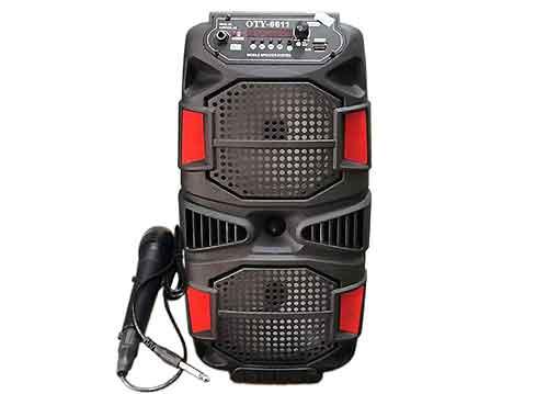 Loa bluetooh karaoke OTY-6611, có kèm 01 mic không dây