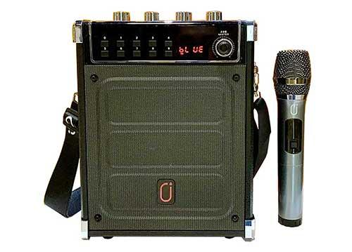 Loa bluetooth JYX MS68BT, loa karaoke mini kèm 1 mic ko dây