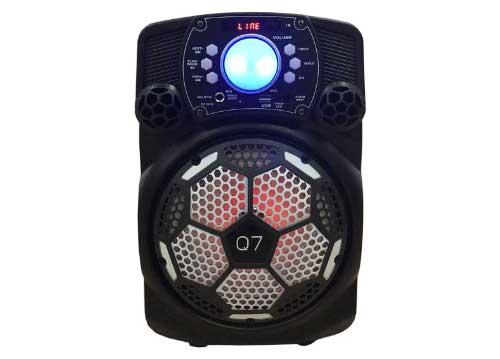 Loa bluetooth karaoke Q7, bass 1.5 tấc, kèm 1 mic không dây