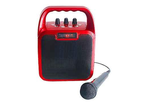 Loa bluetooth-karaoke T-2317A, kèm 01 mic có dây, RMS 10W