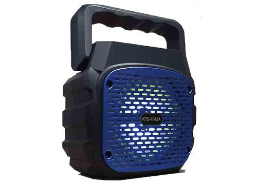 Loa bluetooth kts-1043, dạng loa xách tay, kèm 01 mic có dây