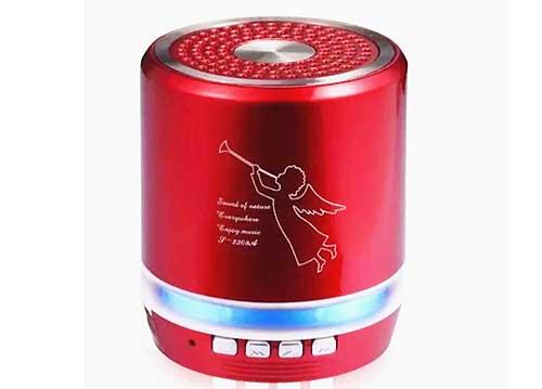 Loa Bluetooth Mini T-2308A , mẫu loa nghe nhạc mini bỏ túi có đèn LED