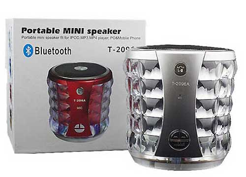 Loa Bluetooth Mini T2096A LED 7 Màu