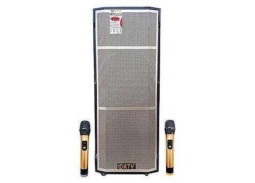 Loa di động KTV GD215-13, loa bass đôi 4.5 tấc, max 1200W