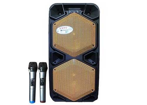 Loa di động KTV2-10, loa kéo 2 bass, công suất tối đa 1000W