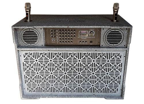 Loa điện 6 cổng cắm mic, cấu hình mạnh, công suất max 1400W
