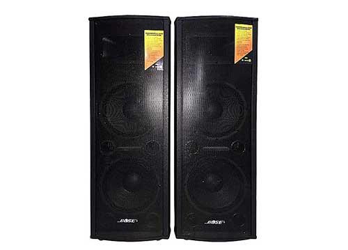 Loa điện đôi Pro DXK-918, thùng gỗ, 1 loa 2 bass, tổng công suất 2000W