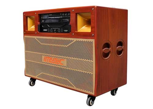Loa điện iMusic MK-8888 PRO, thùng tủ tivi, PMPO 2000W