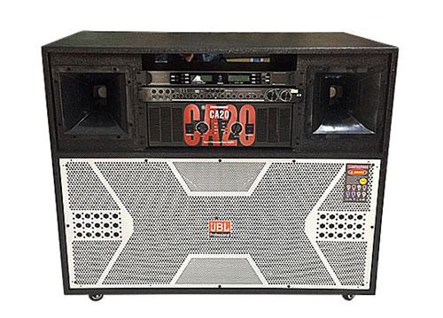 Loa điện JBL-4800, loa karaoke thùng gỗ, 2 bass 4 tấc