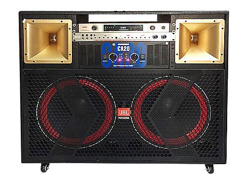 Loa điện karaoke J-2700, loa ráp tại Việt Nam, max 1400W