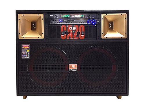 Loa điện T6500, loa karaoke công suất lớn, 2 bass 4 tấc