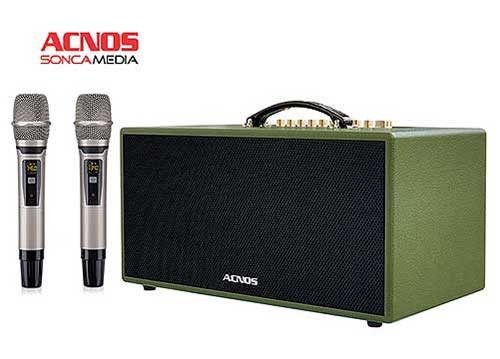 Loa karaoke ACNOS CS445, loa kiểu xách tay, công suất 100W