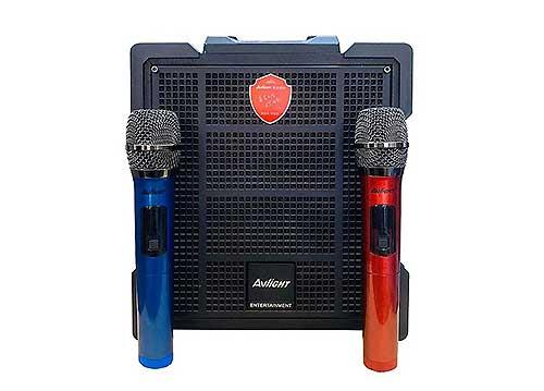 Loa karaoke bluetooth AVlight DX20-01, kèm 2 mic không dây
