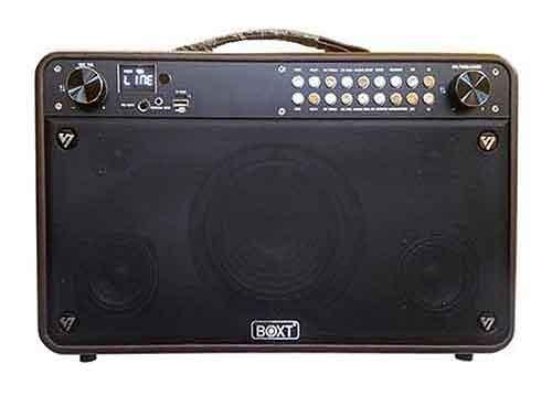 Loa karaoke bluetooth BOXT Q9S, loa xách tay kèm 2 mic