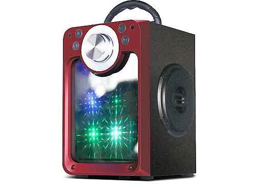 Loa karaoke bluetooth MN-03, vỏ gỗ với công suất đỉnh 60W