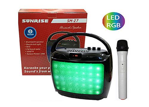 Loa karaoke bluetooth Sunrise SM-27, loa xách tay kèm 1 mic