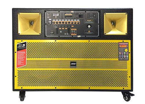 Loa karaoke di động J-3400, 2 bass 3 tấc, công suất mạnh mẽ