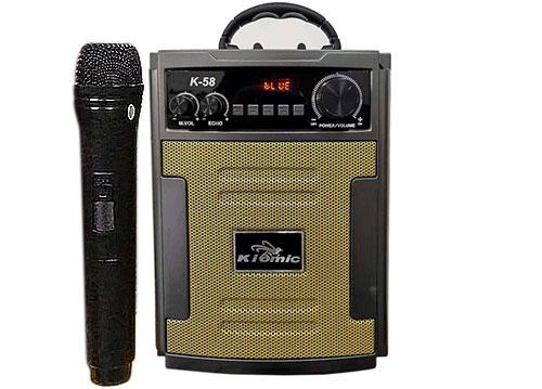Loa karaoke mini Kiomic K-58, loa xách tay 2 tấc, 20-50W