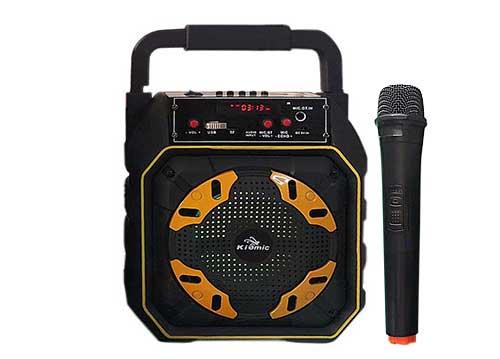 Loa karaoke mini Kiomic K98, loa xách tay 2 tấc, kèm mic ko dây