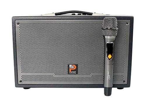 Loa karaoke xách tay PROSING W-SILVER E, kèm mic không dây