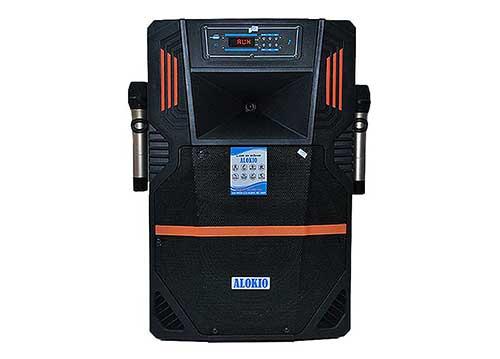 Loa kéo Alokio VB12 4 tấc, loa karaoke vỏ nhựa, công suất đỉnh 300W