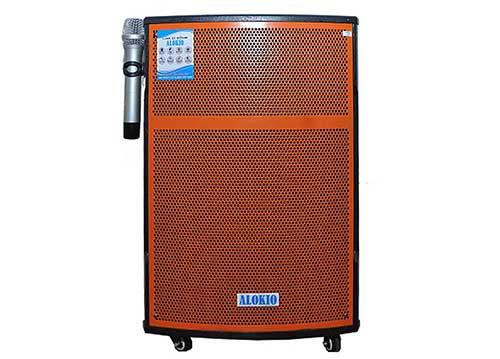 Loa kéo Alokio WML VB-1, loa hát karaoke thùng gỗ, công suất max 400W