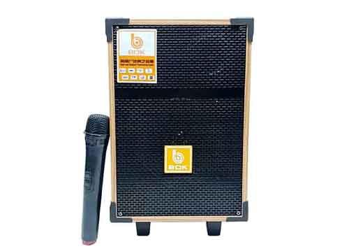Loa kéo BOK HA8, loa karaoke mini vỏ gỗ, bass 2 tấc