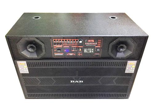 Loa kéo dạng tủ BAB N15, tích hợp 2 bass 4 tấc, PMPO 6500W