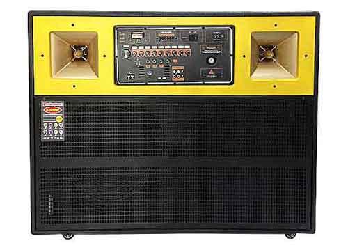 Loa kéo di động 4045, loa karaoke 2 bass, kiểu thùng ngang