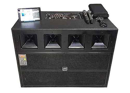 Loa kéo di động 9925, loa karaoke 2 bass, PMPO 6500W