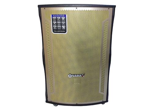 Loa kéo di động ANAMAX T18C, loa karaoke thùng gỗ cao cấp