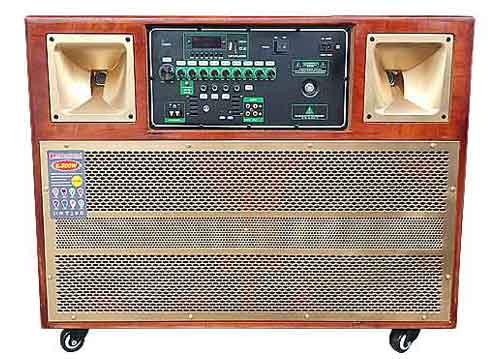 Loa kéo di động AV-136, loa karaoke dạng tủ, 2 bass 3 tấc