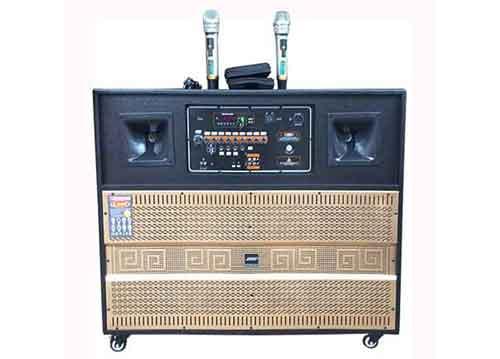 Loa kéo di động DK-7989, loa karaoke dạng tủ, 2 bass 4 tấc