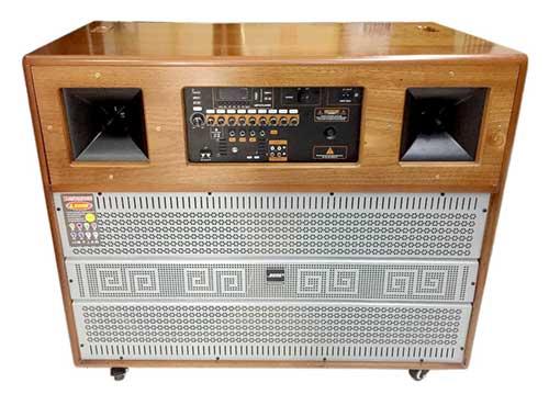Loa kéo di động P130, loa gỗ hát karaoke công suất lớn