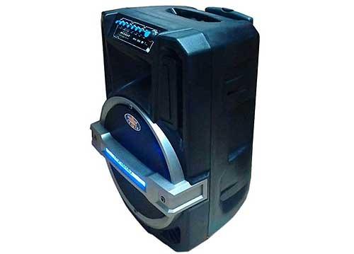Loa kéo di động Ronamax T12, loa karaoke vỏ nhựa, bass 3 tấc
