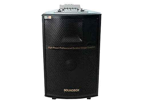 Loa kéo di động SoundBox S-01B, thùng gỗ hát karaoke, bass 4 tấc