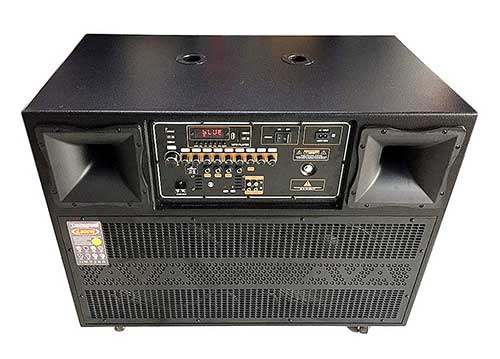Loa kéo di động T4000, dàn karaoke thùng kiểu kệ tủ để tivi