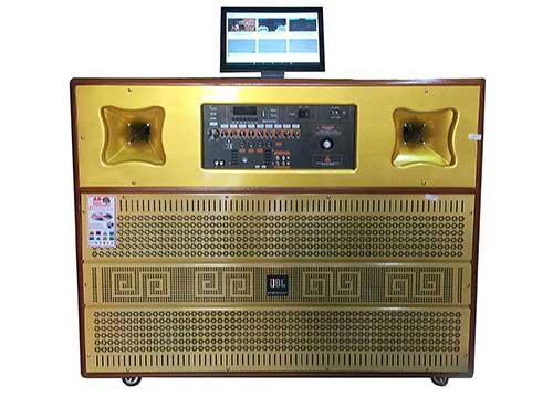 Loa kéo di động X1400, loa karaoke có màn hình LCD 15 inch