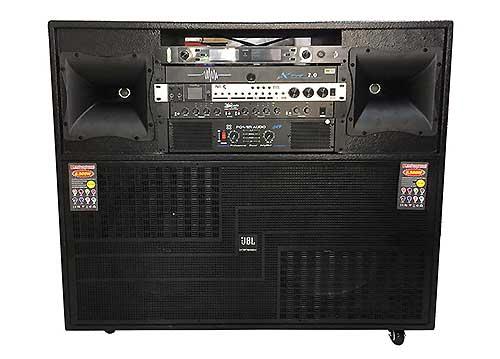 Loa kéo điện A1000, loa karaoke dạng tủ TV, PMPO 6500W