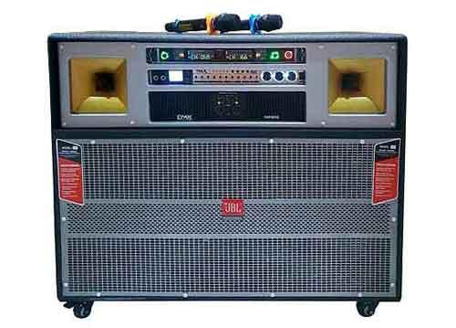 Loa kéo điện di động 4989, loa karaoke dùng main DMX 32 sò