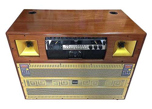 Loa kéo điện NEXO TB-8400, dàn karaoke cao cấp ráp tại VN