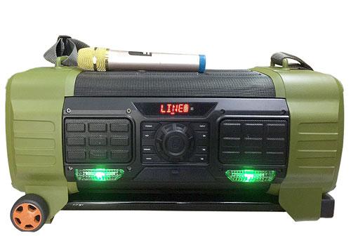Loa kéo du lịch BADE BD-H068, loa karaoke vỏ nhựa, 1 mic