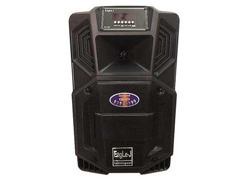 Loa kéo Eagle.J ED-08N, loa karaoke vỏ nhựa, kèm 1 micro