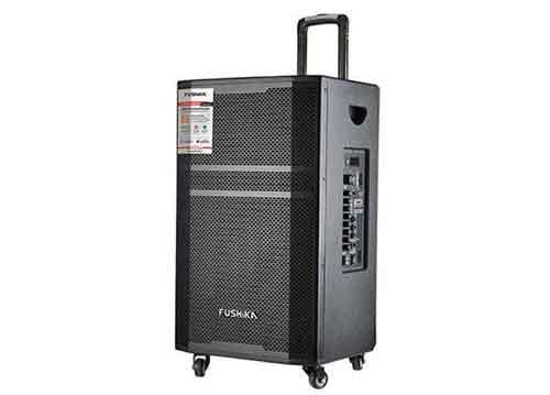 Loa kéo Fushika PK-02, loa karaoke thùng gỗ cao cấp