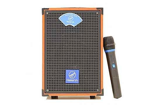 Loa kéo Hamersh H6-28, loa karaoke mini vỏ gỗ, bass 1.5 tấc