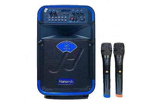 Loa kéo Hamersh SL08-01A, loa karaoke vỏ nhựa, bass 2 tấc